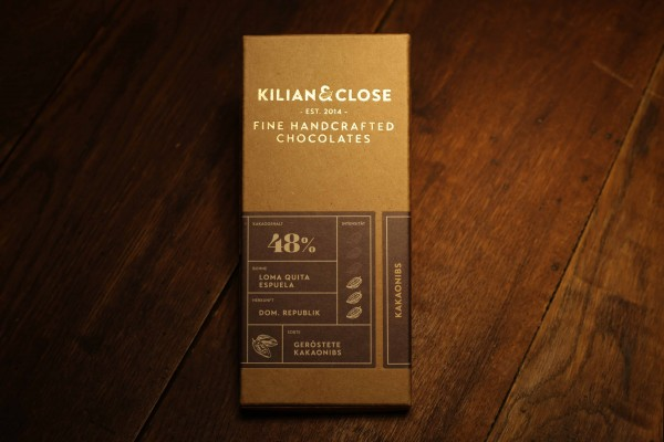 Kakaonibs-Schokolade - 48% - Kilian & Close