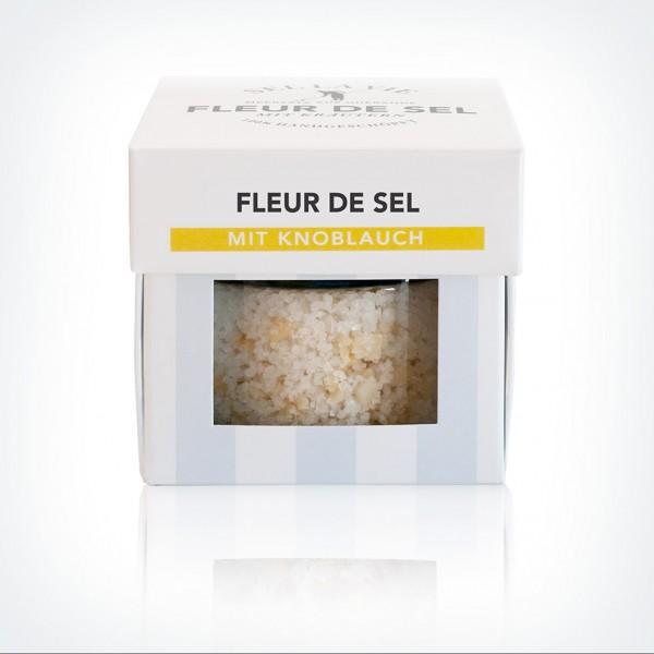 Fleur de Sel mit Knoblauch im Glas