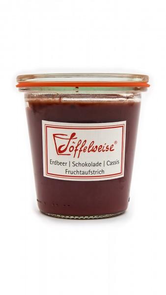 Erdbeer | Schokolade | Cassis Fruchtaufstrich