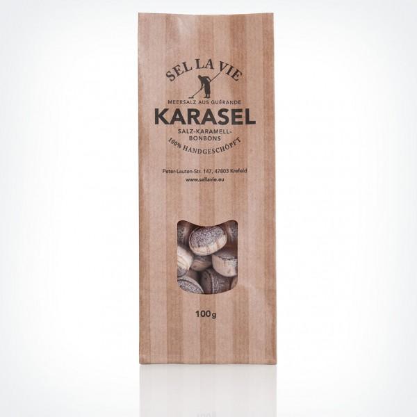 KaraSel - Salz-Karamell Bonbons in der Türe